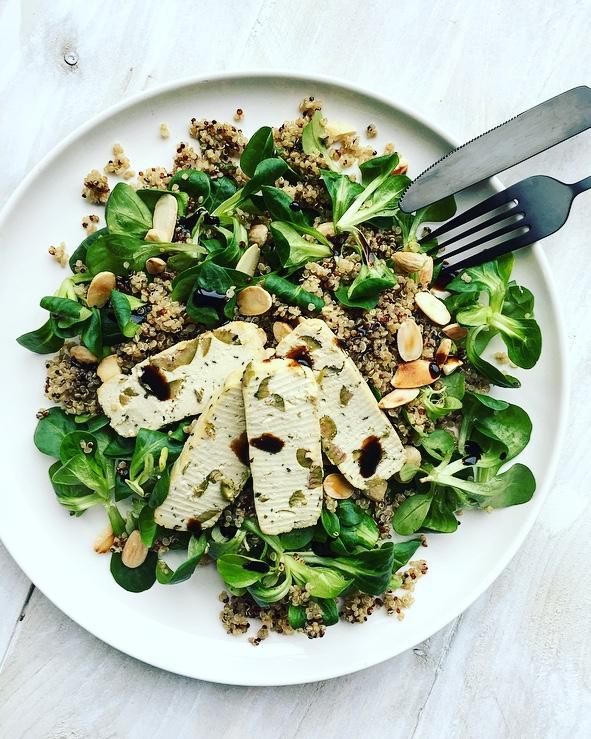 quinoa tofu salade